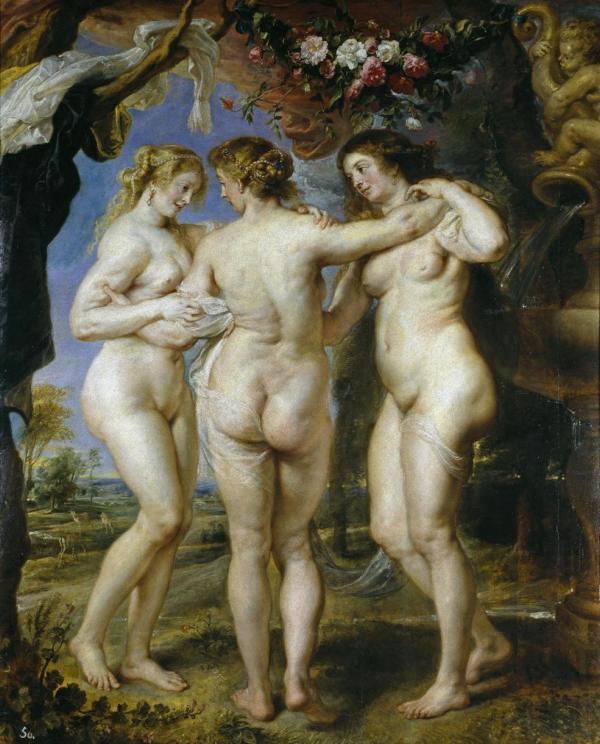 Beleza na Grécia antiga, em pintura de Rubens.